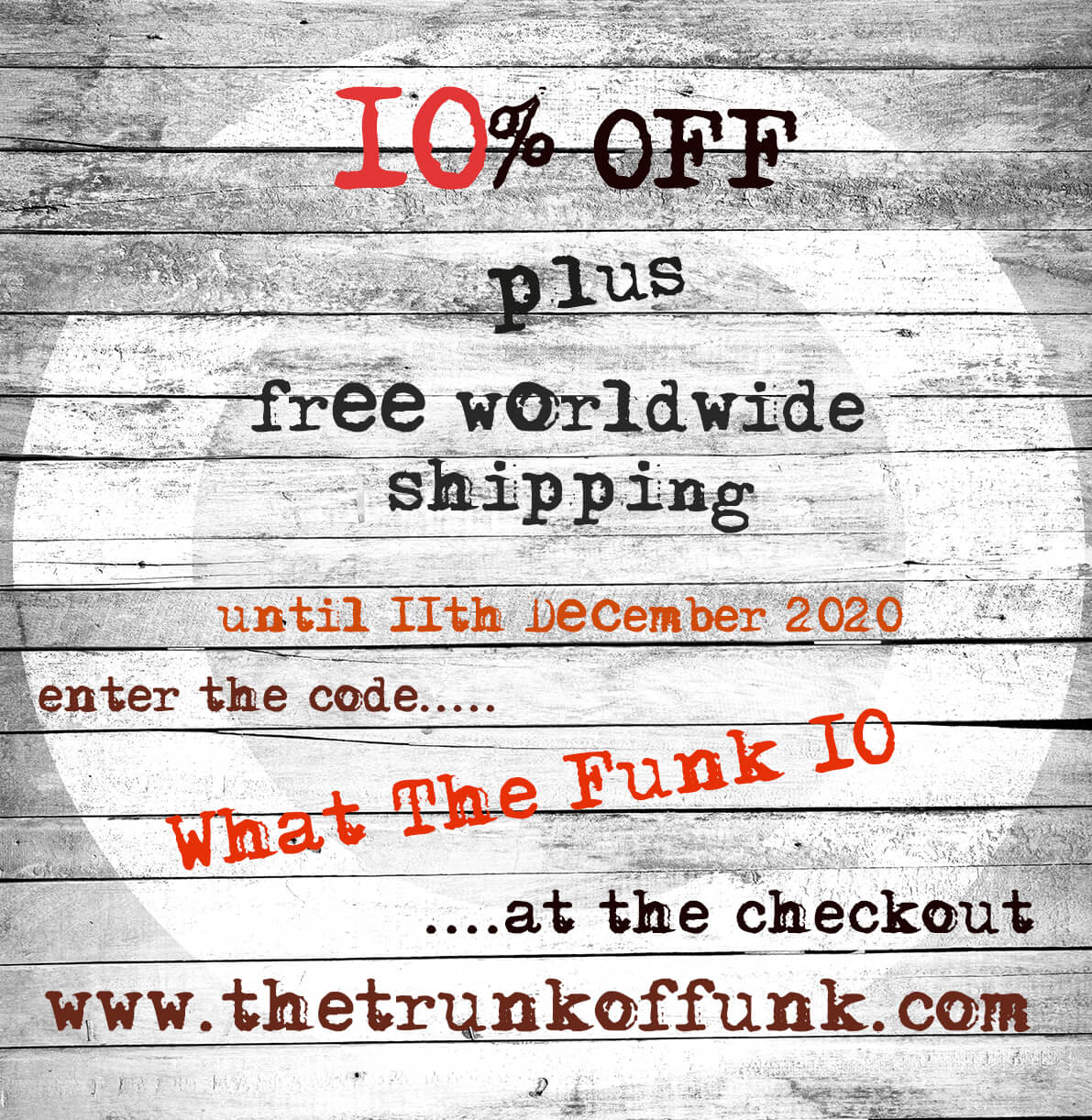 10% off until 11 Dec 20 The Trunk of Funk 10 small